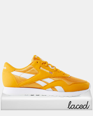 e42b41480605 Reebok Classic Nylon Colour-Trek Gold White