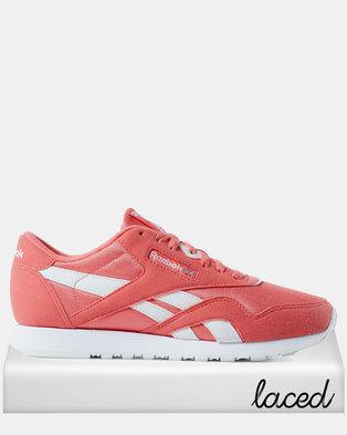 8583be1978dec Reebok Classic Nylon Colour-Bright Rose White