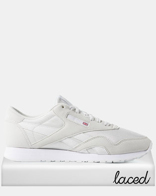 be021cfbbf3 Reebok Classic Nylon Colour-True Grey White