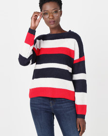 Utopia Striped Jumper Blue/Red/White