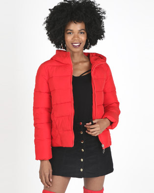 Utopia  Puffer Jacket Red