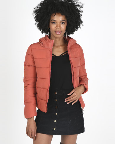 Utopia Puffer Jacket Coral