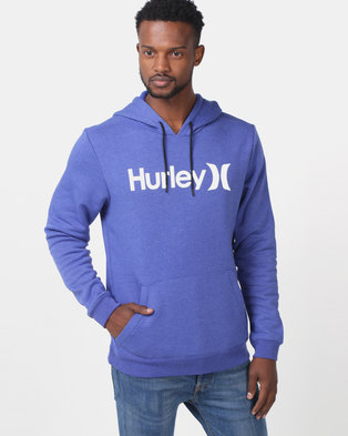 Hurley Surf Check One & Only Pop Hoodie Fleece Blue