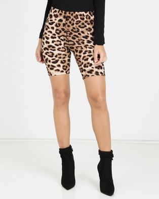 dda27d8923c91 Brett Robson Wild Thing Animal Print Bicycle Shorts Multi