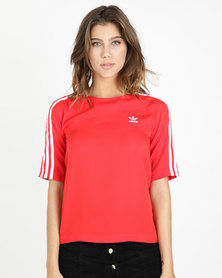 adidas Originals 3 Stripes Tee Red