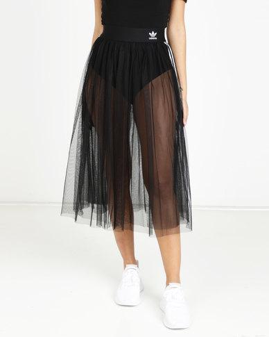 611b24da4fe3 adidas Originals 3 Stripes Skirt Black | Zando