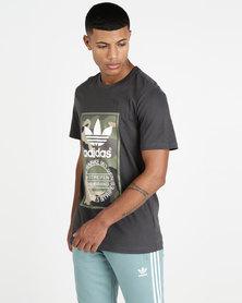 adidas Originals Mens Camo Graphic Tee Grey
