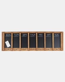 Present Time Chalkboard Week Planner Wood Black