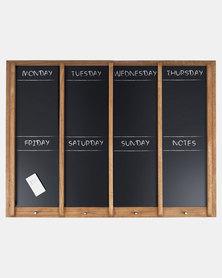Present Time Chalkboard Week Planner XL Wood Black