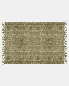 Present Time Carpet Washed Rectangle Green