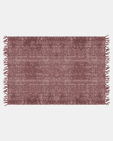 Present Time Carpet Washed Cotton Rectangle Warm Red