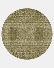 Present Time Carpet Washed Cotton Round Green