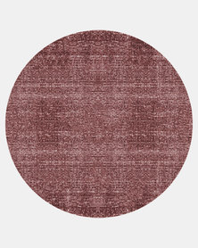 Present Time Carpet Washed Cotton Round Red