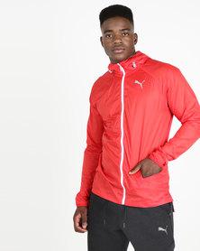 Puma Performance Lightweight Hooded Jacket Red