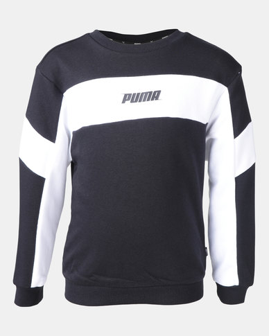 Puma Black Rebel Crew Sweater Black