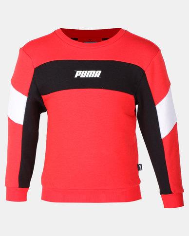 Puma High Risk Rebel Crew Sweater Red