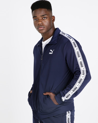 9cce7d63 Puma Sportstyle Prime Mens Tape Track Jacket Blue