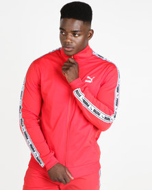 Puma Sportstyle Prime Mens Tape Track Jacket Red