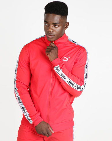 f8202556 Puma Sportstyle Prime Mens Tape Track Jacket Red