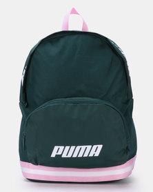 Puma Sportstyle Core Womens Core Backpack Green/Pink
