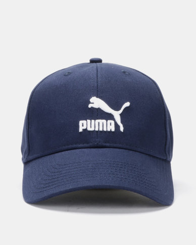 official photos 5d23a b4461 Puma Sportstyle Prime Archive Logo BB Cap Blue   Zando