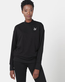 Puma Sportstyle Prime Womens Oversized Sweatshirt Black