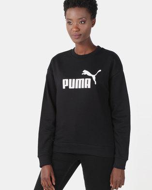 Puma Sportstyle Core Ess Logo Crew Sweatshirt Black