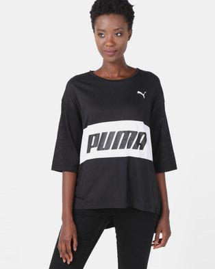e1f8077e98dbe Puma Sportstyle Core Modern Sports Boyfriend Tee Black