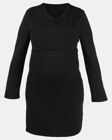 Hannah Grace Long Sleeve Nightie Black