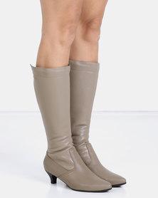 Froggie Sindy Long Boots Stone