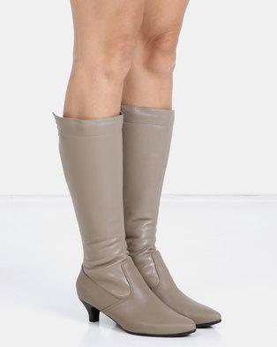 e285ac1d0d2 Froggie Sindy Long Boots Stone
