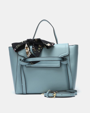 Utopia Double Strap Tote Blue