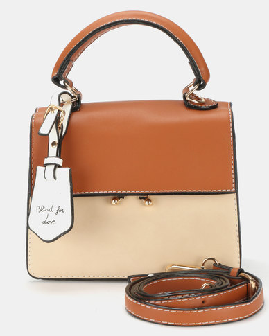 Utopia Crossbody Bag Tan Cream