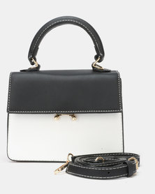 Utopia Crossbody Bag Black White