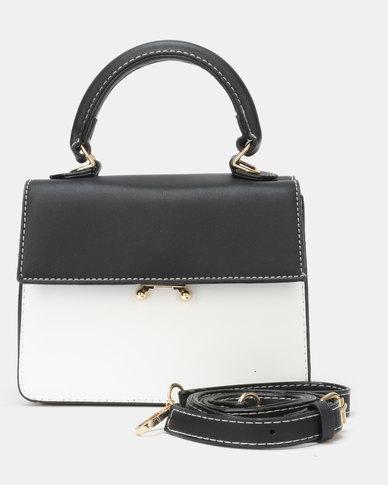 Utopia Crossbody Bag Black White