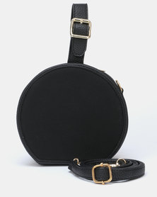 Utopia Round Crossbody Bag Black
