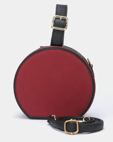 Utopia Round Crossbody Bag Burgundy