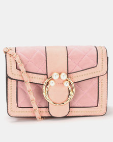 Utopia Quilted Crossbody Bag Pink