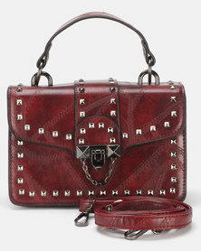 Utopia Western Satchel Bag Burgundy