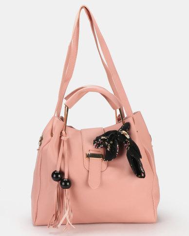 Utopia 3 Piece Handbag Set Pink