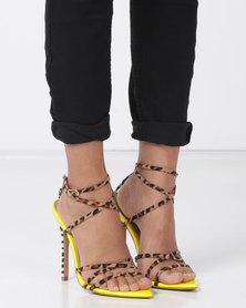EGO Raja Heels Yellow/Mixed Print