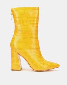 EGO Laura Block Clean Boots Yellow Croc