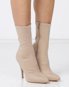 EGO Nala Stiletto Clean Boots Nude