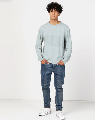 Quiksilver Voodoo Red Zone Crew Sweater Stormy Sea