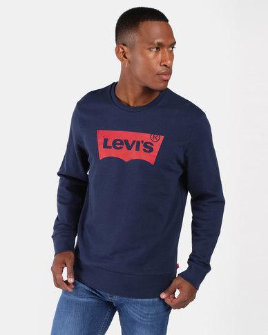 Graphic Crew Sweatshirt Blue