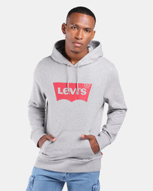 Graphic Pullover Hoodie Grey