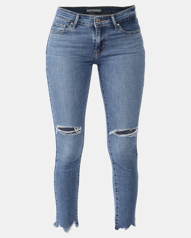 711 Skinny Ankle Jeans Blue