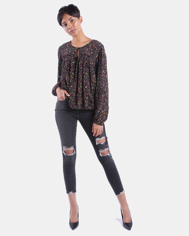 721 High Rise Skinny Ankle Jeans Black
