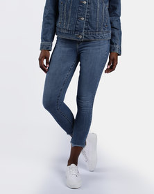 721 High Rise Skinny Ankle Jeans Blue
