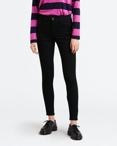 720 High Rise Super Skinny Jeans Black